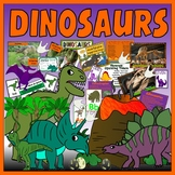 DINOSAURS -  SCIENCE HISTORY KEY STAGE 1-2 DISPLAY JURASSIC