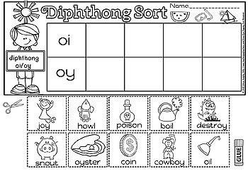 DIPHTHONG SPIN AND SORT(flash freebie)