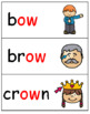 DIPHTHONGS FLASH CARDS AND MATCHING