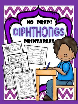 DIPHTHONGS {NO PREP} PRINTABLES