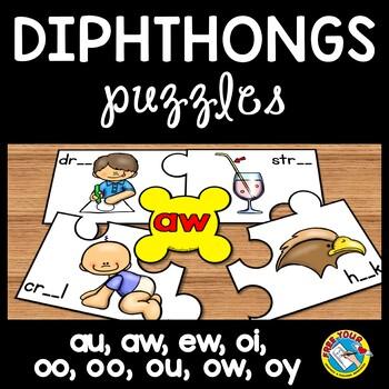 PHONICS ACTIVITIES (DIPTHONGS PUZZLES) DIPHTHONGS CENTER