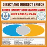 DIRECT AND INDIRECT SPEECH: LESSON PLAN AND RESOURCES
