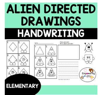 DIRECTED DRAWING & HANDWRITING PRACTICE ALIENS!