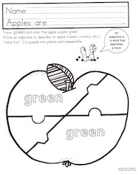 FREE Green Curriculum, including Writing, Math and Art Activities