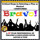 PLAY DIRECTING TIPS FOR BEGINNING AND ADVANCED THEATRE/ COSTUMES