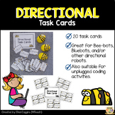 DIRECTIONAL TASK CARDS for Coding & Robotics - Beebots / Bluebots Activities