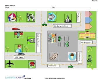 DIRECTIONS IN TOWN (ITALIAN)