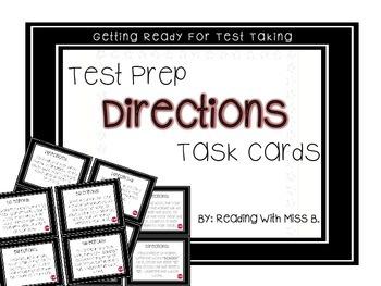 DIRECTIONS - Test Prep Task Cards