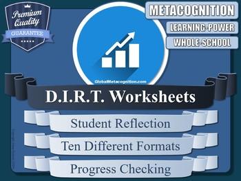 DIRT Worksheets (Metacognition, Metacognitive Strategies)