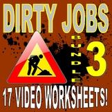 DIRTY JOBS : BUNDLE SET 3 (15 Career Video Worksheets)