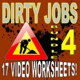 DIRTY JOBS : BUNDLE SET 4 (15 Career Video Worksheets)
