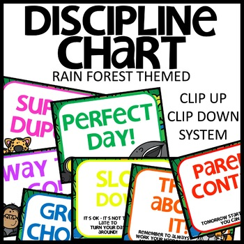 DISCIPLINE CHART Clip up and Down Chart (Rain Forest)