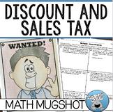 "DISCOUNT AND SALES TAX - ""MATH MUGSHOT"""