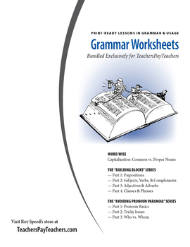DISCOUNTED BUNDLE: All Grammar Worksheets (Student Guides)
