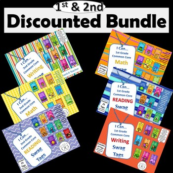 DISCOUNTED Bundle of all 1st Grade/2nd Grade Combo Common Core Brag Tags
