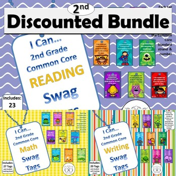 DISCOUNTED Bundle of all 2nd Grade Common Core Brag Tags