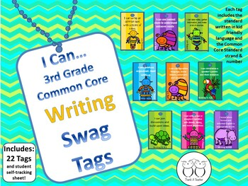 DISCOUNTED Bundle of all 3rd Grade Common Core Brag Tags