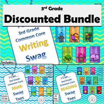 DISCOUNTED Bundle of all 3rd Grade/4th Grade Combo Common Core Brag Tags