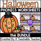 DISCOUNTED Halloween Phonics Worksheets -growing bundle- NO PREP