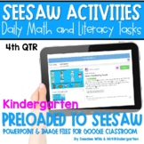 SEESAW 10 Week Math & Literacy Tasks for Distance Learning