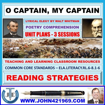 O CAPTAIN, MY CAPTAIN - DISCOVERING ABRAHAM LINCOLN : LESSON AND RESOURCES