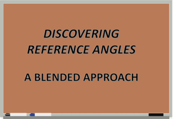 DISCOVERING REFERENCE ANGLES - A Blended Approach