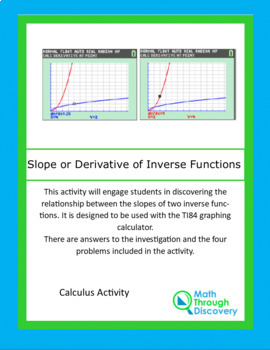 Calculus:  Slope or Derivative of Inverse Functions