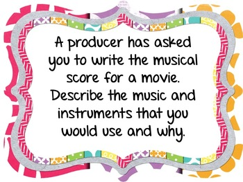 DISCUSSION QUESTIONS FOR MUSIC CLASS