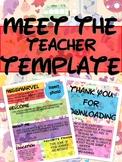 DISNEY MEET THE TEACHER NEWSLETTER TEMPLATE EDITABLE BACK