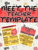 DISNEY Mickey Mouse MEET THE TEACHER NEWSLETTER TEMPLATE E