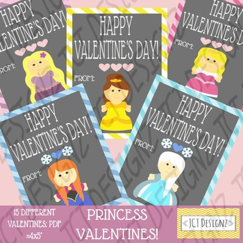 PRINCESS INSPIRED valentines! Princess valentines, princess clipart