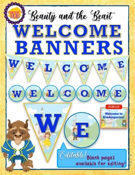 DISNEY THEMED: Beauty and the Beast WELCOME BANNERS by Learner's Hub