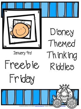 DISNEY THEMED RIDDLES: FREEBIE FRIDAY JANUARY 9