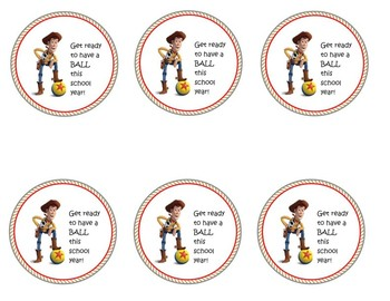 DISNEY THEMED TOY STORY TREAT LABELS FOR OPEN HOUSE OR FIRST DAY OF SCHOOL