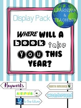 DISPLAY / Where will a book take you?