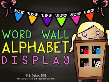 DISPLAY - Word Wall Alphabet