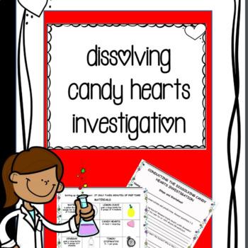 Valentine Dissolving Candy STEM with Scientific Method