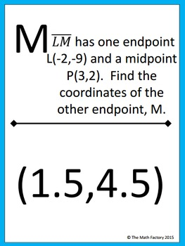 Distance and Midpoint Formulas Scavenger Hunt Activity