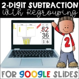DISTANCE LEARNING - 2-Digit Subtraction with Regrouping Using Base Ten Blocks