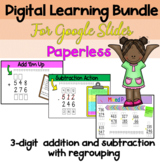 Distance Learning / 3 Digit Addition and Subtraction with Regrouping Bundle