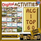 DISTANCE LEARNING: ALGEBRA I TOP 60 INTERACTIVE ACTIVITIES