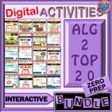 DISTANCE LEARNING: ALGEBRA II TOP 20 INTERACTIVE ACTIVITIES
