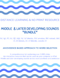 DISTANCE LEARNING: ARTICULATION BUNDLE | HIGH FREQUENCY WORDS