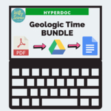 DISTANCE LEARNING Ancient Earth Geologic Time HyperDoc Bun