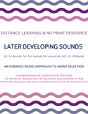 DISTANCE LEARNING: Articulation Words and Sentences for La