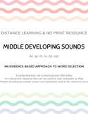 DISTANCE LEARNING Articulation Words and Sentences for Mid
