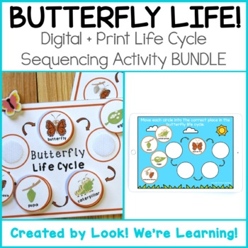 DISTANCE LEARNING: Butterfly Life Cycle Activity - Print + Digital Version!