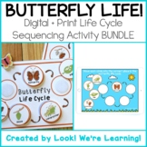 DISTANCE LEARNING: Butterfly Life Cycle Activity - Print +