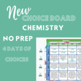 DISTANCE LEARNING  Chemistry Choice Board (Insert Video Op