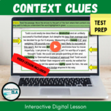 DISTANCE LEARNING Context Clues Digital Passages, Sorts, a